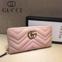 GUCCI-448087-08 古馳時尚新款原單小牛皮拉鏈錢包