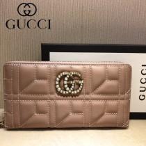 GUCCI-448087-05 古馳時尚新款原單小牛皮拉鏈錢包
