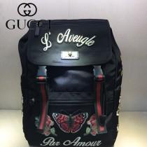 GUCCI-450982-01 古馳時尚新款原單刺繡Techpack雙肩背包