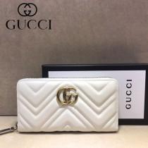 GUCCI-448087-04 古馳時尚新款原單小牛皮拉鏈錢包