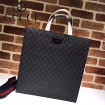 GUCCI-456217-01 古馳新款原版皮男女同款大容量購物袋