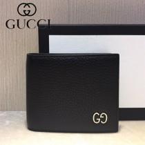 GUCCI-473916-01 古馳新款原版皮男士小牛皮拉鏈短夾