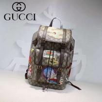 GUCCI-473869-01 古馳新款原版皮最新爆款英倫背包