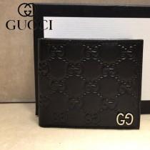 GUCCI-473916 古馳新款原版皮男士小牛皮拉鏈短夾