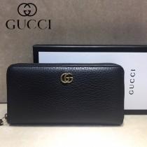 GUCCI-456117-01 古馳新款原版皮電鍍不掉色五金配件拉鏈長夾