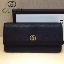 GUCCI-456116-03 古馳新款原版皮電鍍不掉色五金配件拉鏈長夾