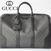 GUCCI-474131-01 古馳新款原版皮Courrier GG Supreme高級人造帆布旅行袋