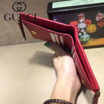 GUCCI-474747-4 古馳新款原版皮小双G金属对折短夹