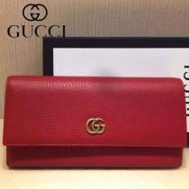 GUCCI-456116-02 古馳新款原版皮電鍍不掉色五金配件拉鏈長夾