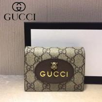 GUCCI-476420-02 古馳新款原版皮小牛皮卡包