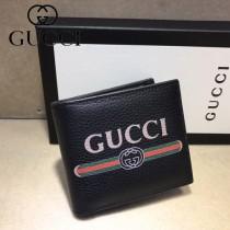 GUCCI-496309 古馳新款原版皮小牛皮拉鏈錢包 短夾