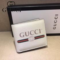 GUCCI-496309-01 古馳新款原版皮小牛皮拉鏈錢包 短夾