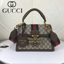GUCCI-476541-02 古馳新款原版皮早秋款Queen Margaret系列小號手提包