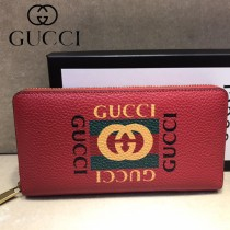 GUCCI-496317-01 古馳新款原版皮小牛皮拉鏈長夾