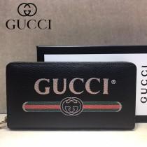 GUCCI-496317-02 古馳新款原版皮小牛皮拉鏈長夾
