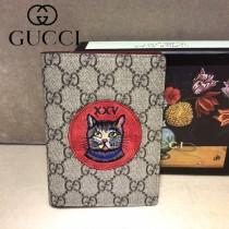 GUCCI-506275-01  古馳新款原版皮超萌刺繡護照本