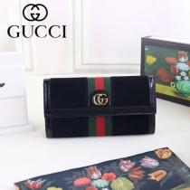GUCCI-523153-02 古馳新款Ophidia系列原版皮長款錢包
