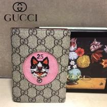 GUCCI-506275-02 古馳新款原版皮超萌刺繡護照本