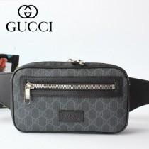 GUCCI-474293-01 古馳時尚潮流原版皮男士必備款腰包 胸包
