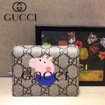 GUCCI-499380-06 古馳新款原版皮超萌小卡包