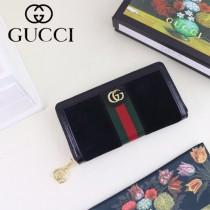 GUCCI-523154-02 古馳新款Ophidia系列原版皮全拉鏈式錢包