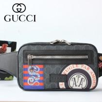 GUCCI-474293 古馳時尚潮流原版皮男士必備款腰包 胸包
