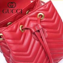 GUCCI-528129 古馳新款Marmont系列原版皮最新特色造型雙肩包