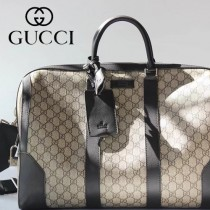 GUCCI-406380 古馳原版皮復古風最新旅行包 行李包包