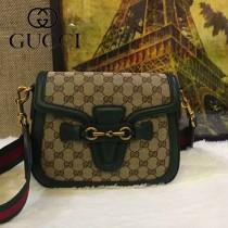 GUCCI-383848-01 古馳原版皮復古風Lady web肩背包