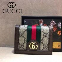 GUCCI-523155-02 古馳新款Ophidia系列原版皮小卡包