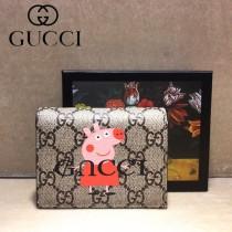 GUCCI-499380-05 古馳新款原版皮超萌小卡包