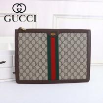 GUCCI-523359-01 古馳Ophidia系列時尚潮流原版皮經典復古款手拿包