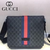 GUCCI-475432-02 古馳時尚潮流原版皮經典復古款男士斜挎包
