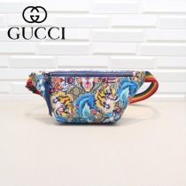 GUCCI-527792-01 古馳時尚潮流原版皮明星同款腰包 胸包