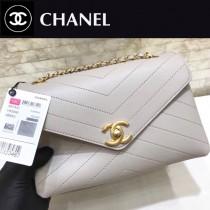 CHANEL-57431-02 原版皮 夏季新品 鏈條信封包V紋翻蓋包 可以肩背 可以斜挎