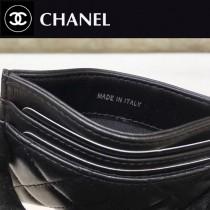 CHANEL-84431-01 香奈兒Boy新品進口羊皮片式卡包