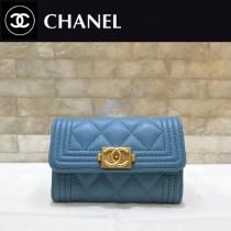CHANEL-80603 香奈兒經典BOY款進口羊皮錢包