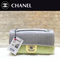 CHANEL-50 原版皮春夏新品 灰色 粉色 拼色珠片 cf亮片鏈條單肩包