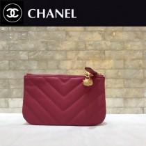 chanel  625-03 原版皮 貓頭鷹 系列 進口黑色小球紋牛皮V紋 錢包