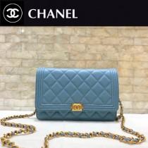CHANEL-80287 香奈兒經典新款進口羊皮菱格紋 WOC鏈條包 單肩斜跨手拿包