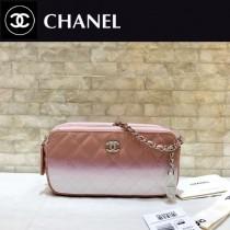 CHANEL-70241-01 香奈兒經典新款WOC弧品漸變色雙拉鏈手機包 斜挎包