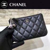 CHANEL 82365 原版皮 進口羊皮 宇宙掛飾 最新系列之零錢包