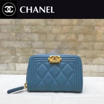 CHANEL 80602 經典BOY款 進口羊皮 錢包 卡包菱格紋