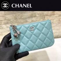CHANEL 82365-01 原版皮 進口羊皮 宇宙掛飾 最新系列之零錢包