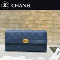 Chanel-80286-01 原版皮 進口球紋 二折錢夾 專櫃同步上市