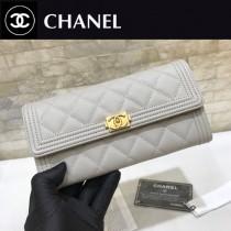 Chanel-80286-02 原版皮 進口球紋 二折錢夾 專櫃同步上市