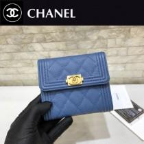 Chanel-80734-2 原版皮 進口球紋 短三折錢夾 專櫃同步上市