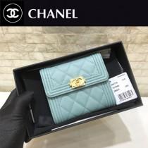 Chanel-80734-4 原版皮 進口球紋 短三折錢夾 專櫃同步上市