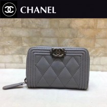 Chanel-80602-04 原版皮 進口羊皮 錢包 卡包