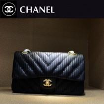 Chanel-1112 香奈兒希腊系列之CF折皱V纹牛皮斜挎包